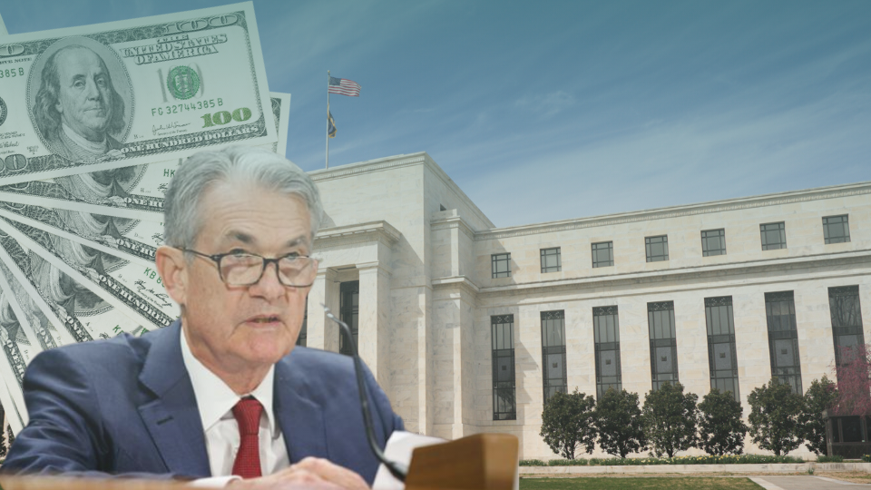 US Central Bank & Powell's forecasts